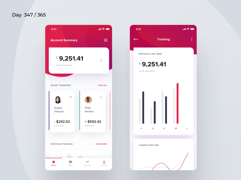Crypto Wallet Dashboard Mobile | Day 349/365 - Project365