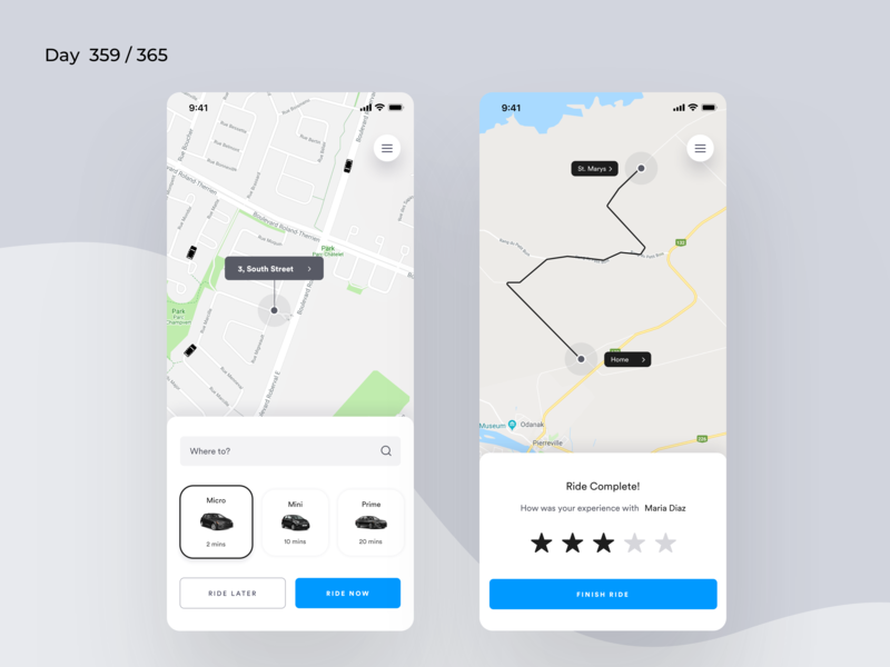 Ola App Redesign Concept | Day 359/365 - Project365 taxi app cabs cab booking app olacabs ola cabs ola app redesign ios sketch design-challenge mobile-app challenge daily-ui redesign-tuesday minimal mobile app redesign redesign concept project365