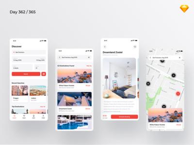 Hostel Booking App - Freebie | Day 362/365 - Project365
