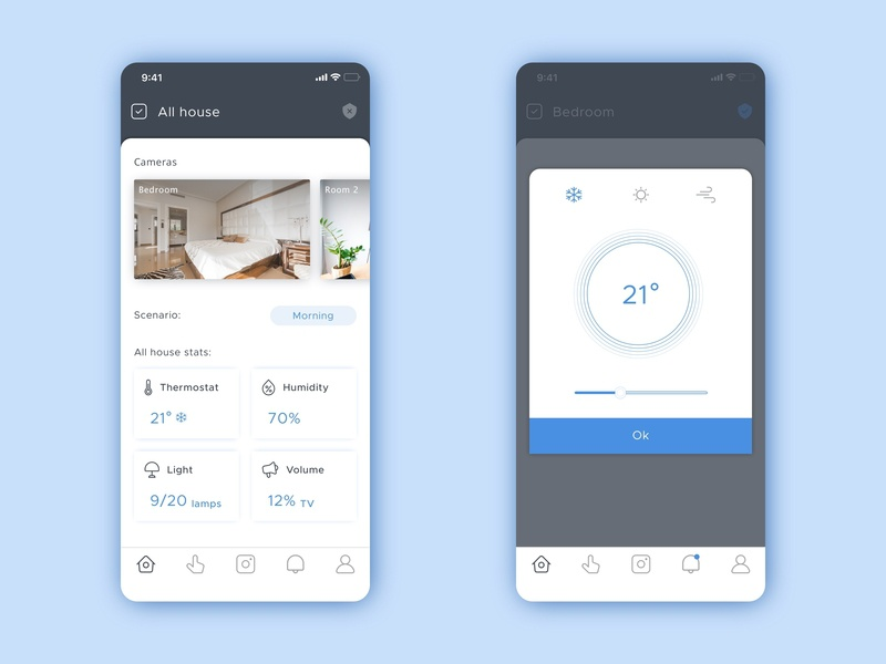 Smart Home app iphone smart home mobile design ui
