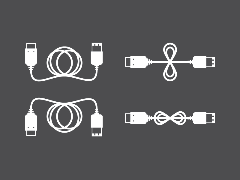 FireWire firewire cable illustration