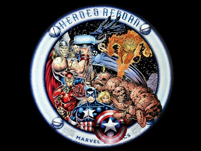 Marvel Heroes Reborn promo poster maervel avengers captain america iron-man fantastic four super heroes poster