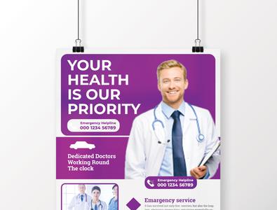 Health Flyer Template Design