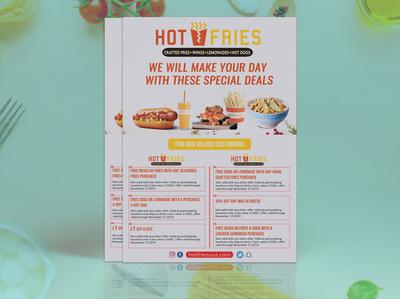 Fast Food flyer menu