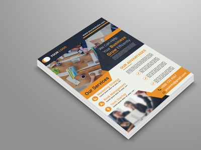Business Flyer Template By Eliyas Ali On Dribbble