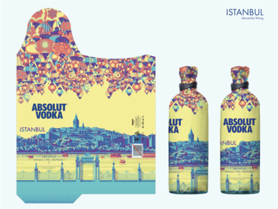 Absolut Istanbul Illustrated Package