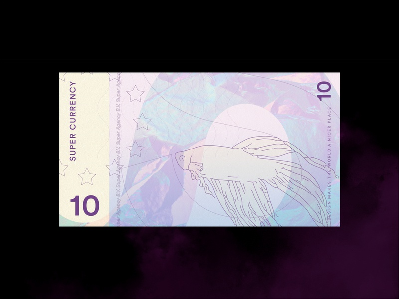 Super Currency currency holographic agency design branding