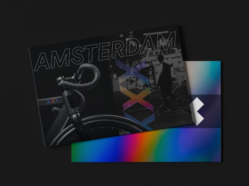 From Amsterdam with love postcard design rebound postcard amsterdam design agency
