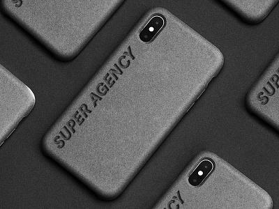 Super Agency iPhone Cover cover art minimal debut logo hello concept identity agency branding dark black design cover iphone