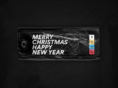 Super Agency Christmas Gift Tag visual design typography minimal 2020 new year gift tag warmup dribbble concept tag gift christmas brand agency design branding