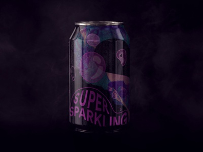 Super Sparkling visual identity packaging tag 2020 visual design holographic brand identity concept hello design branding agency
