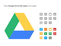 Google Drive File Types Icons Pack