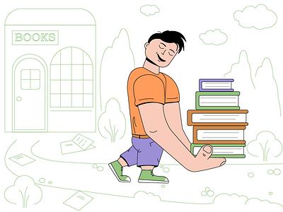 Bookworm graphic  design art vector bookworm books artwork adobeillustator character characterdesign illustration illustrator