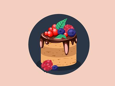 Cake illustrator vector food art biscuits logo artwork adobeillustator illustration sweets cake