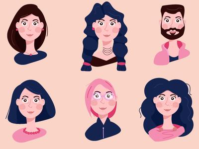 Characters in imagery vector illustration design adobeillustator illustrator artwork man woman girl imagery character illustration art