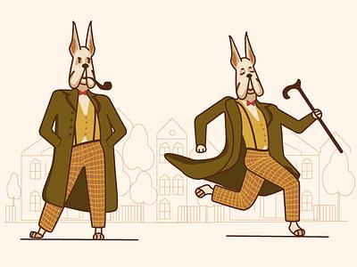 Mr dog adobeillustator vector character dog character germany dog dogs art illustrator illustration mr dog dog illustration