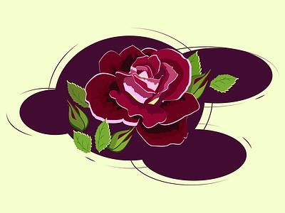 Rose rose flower adobeillustator logo illustrator art design vector illustration