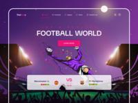 Landing page for football site football app sport site sport football club ux web webdesign gradient soccer bets score football design illustration boro interface concept ui