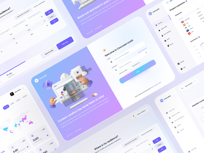 AI web dashboard takasho animation chart statistics onboarding webdesign responsive adaptive dashboard clean web app cards flat app design minimal concept ux interface ui