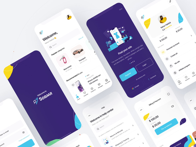 Marketplace app 👌 olx animation design intaraction homescreen onboarding splashscreen ecommerce app store marketplace app animation design app ios flat app design minimal interface concept ux ui