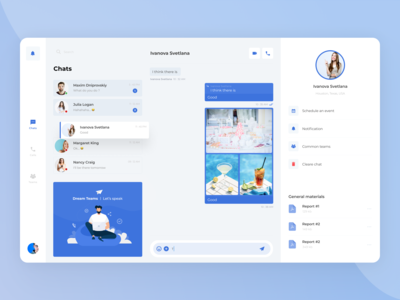 UI design for a Chat App