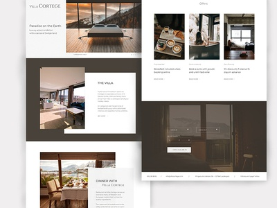 Concept website for hotel