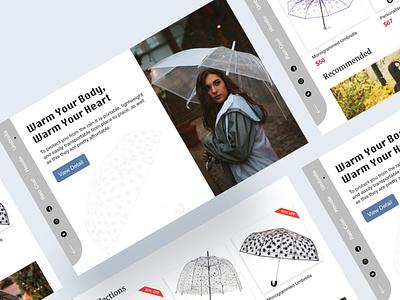 Rainy Season Product web design ux ui