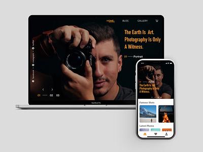 Web & Mobile Design For PhotoShot design web app ux ui