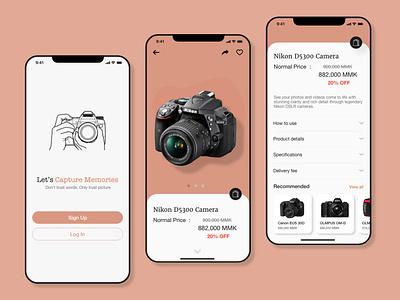 Camera Selling App design ux ui
