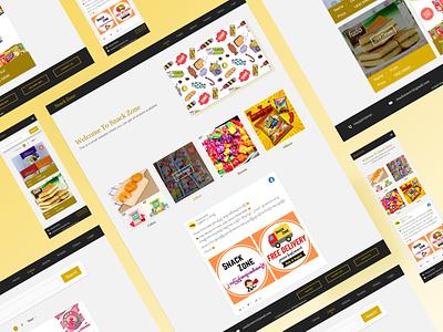 SnackZone Responsive Website design web ux ui