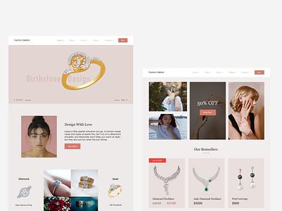 Gems Galore design web ux ui