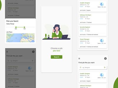Job Seeker design app ux ui