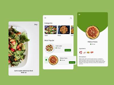 Making Food design app ux ui