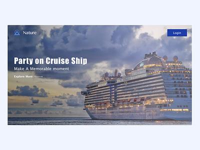 Cruise Ship ui design typography design ui