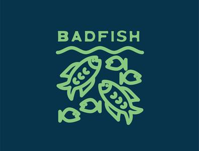 Badfish logo design outdoors branding logo badfish