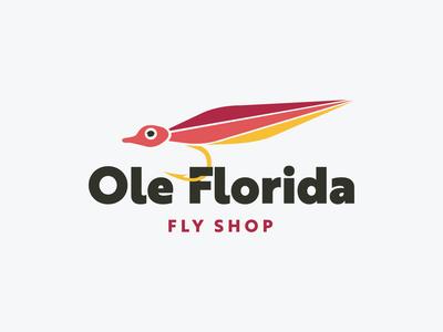 Ole Florida Fly Shop logo branding logo design fishing fly fly fishing flyshop