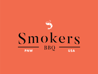 Smoker's BBQ logo design outdoors branding bbq