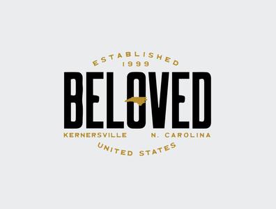 Beloved logo branding logo design hardcore music beloved