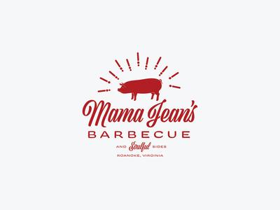 Mama Jean's Barbecue design logo design branding logo