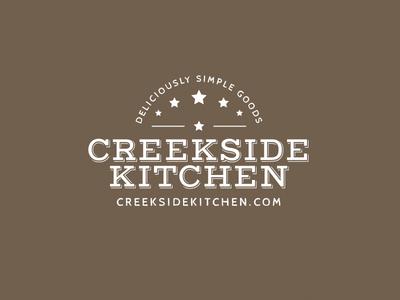 Logo mark for Creekside Kitchen design logo logo design