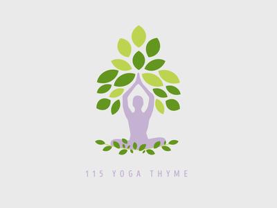Logo for 115 Yoga Thyme logo