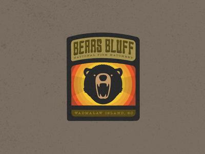 Bears Bluff National Fish Hatchery branding logo outdoors