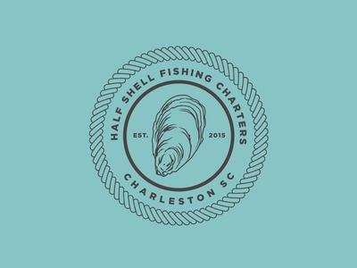 Half Shell Fishing Charters fishing branding logo outdoors