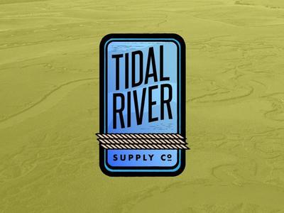 Tidal River Supply Co branding logo badge outdoors
