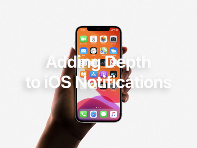 Adding Depth to iOS Notifications alert banner notification motion apple ux ui animation redesign ios concept