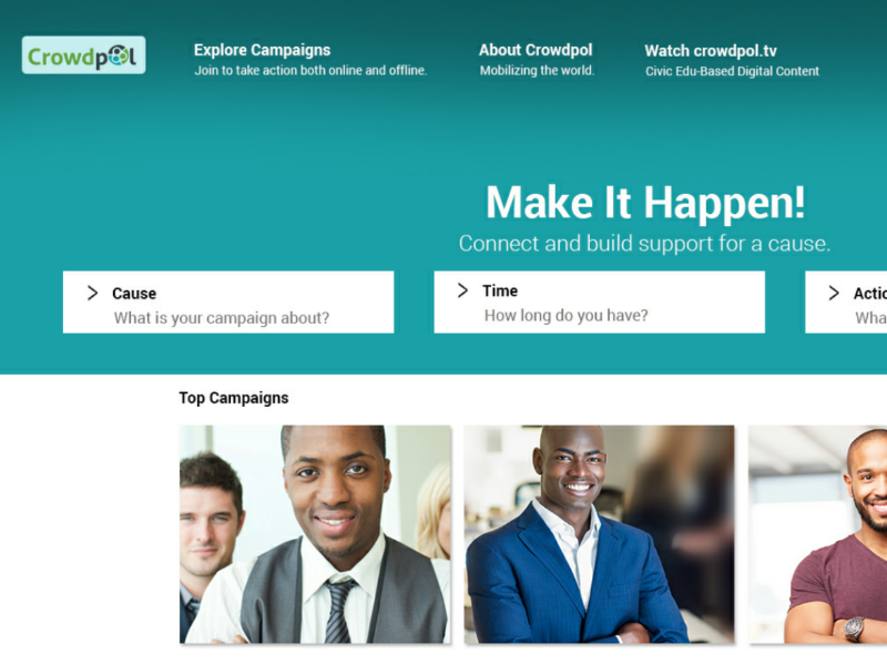 Crowdsourcing & funding site design