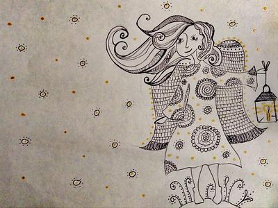 Angel artwork style design illustration