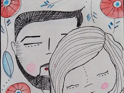 you and me drawing calendar design calendar illustration