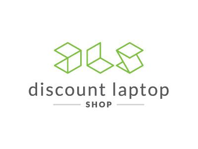 Discount Laptop Shop logo laptop fervor branding computer