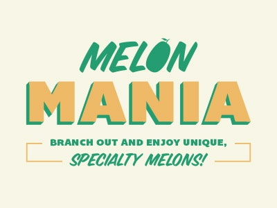 Melon Mania melons type lockup fruit